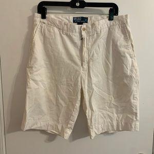 Polo by Ralph Lauren White Khaki Shorts